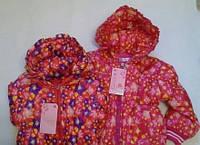 Куртка дитяча на манжеті для дівчаток жасмин 1-3 року, фото 1