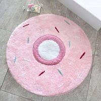 Круглый коврик для ванной Alessia с высоким ворсом 90*90 пончик