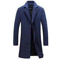 Мужское утеплённое синтепоном кашемировое пальто. 5 цветов