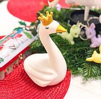 Детский светильник ночник-игрушка с таймером и 5 режимами подсветки Dhink Лебедь, фото 1