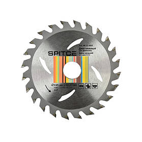Диск пильный для древесины 115/22.2, 24Т, Spitce (22-905) шт.