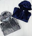 Утепленный человечек с ушками для новорожденного Темно-Синий , фото 2