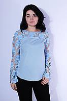 Блуза женская голубая 3146 купити дешево через інтернет  917a14a38123c
