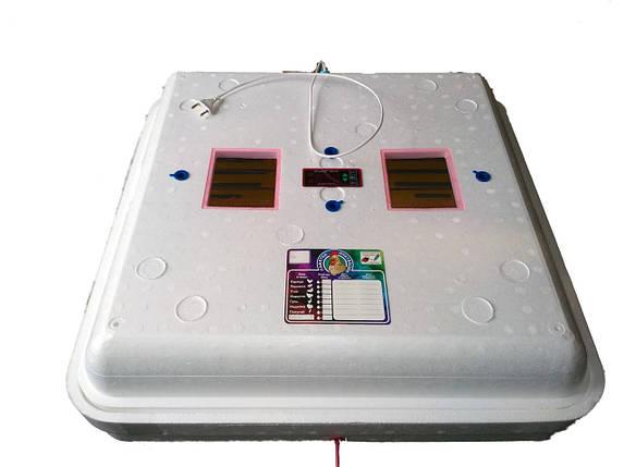 "Инкубатор ручной цифровой ""Рябушка"" Smart Turbo 70 яиц с вентилятором, фото 2"