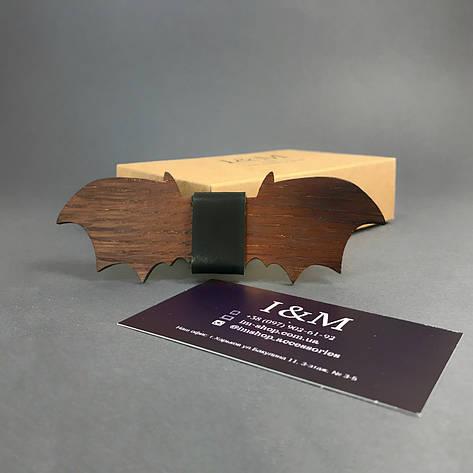 Краватка-метелик I&M Craft з дерева у формі летючої миші (011202), фото 2