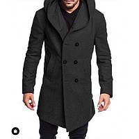 Мужское кашемировое пальто с оригинальным капюшоном 961ae8202439c