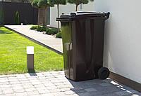 Бак для мусора на колесах  240 л. черный