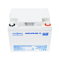 Аккумулятор AGM - 45 Ач, 12В мультигелевый LogicPower LPM-MG 12-45 AH, фото 2