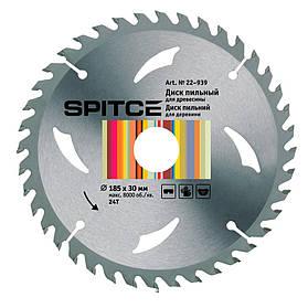 Диск пильный Spitce по дереву с адаптером 24Т 185 х 30/20 мм (22-939)