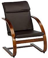 Стильное кресло искусственная кожа, цвет кофе