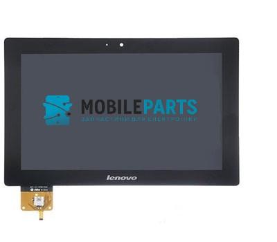 Дисплей для планшета Lenovo S6000 IdeaTab с сенсорным стеклом (В рамке) (Черный) Оригинал Китай