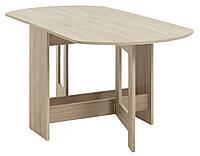 Обеденный стол раскладной 80x163см матовий дуб, фото 1