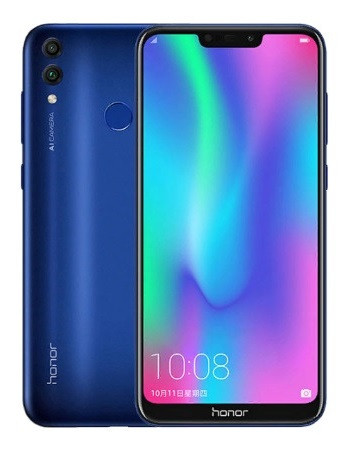 "Смартфон Huawei Honor 8c 4/32Gb Blue, 13+2/8Мп, 6.26"" IPS, 4000mAh, 2SIM, 4G, Snapdragon 632, 8 ядер"