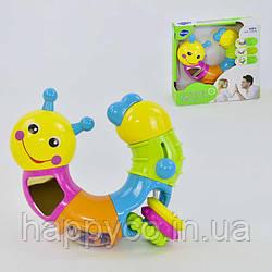 Детская игрушка Гусеница  погремушка, зеркальце,