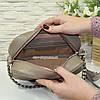 Женская сумка из натуральной кожи цвета визон. Производство Украина, фото 3
