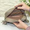 Женская сумка из натуральной кожи цвета визон. Производство Украина, фото 4