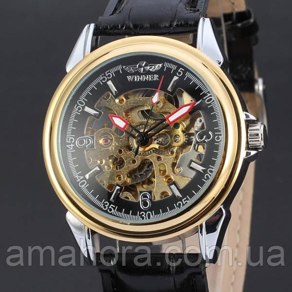 28e8776f41e2 Часы наручные мужские WINNER Black RA M177