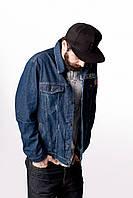 Джинсовая куртка голубой Feel&Fly PATCH DARK BLUE, фото 1