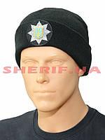 Шапка Полиции с 3D кокардой (черная, вязанная) 11434/3d