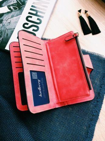 6a8bcc9f5203 Женский кошелек, клатч Baellerry Forever, балери. Красный. Замша PU, фото 2  ...