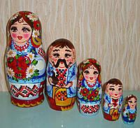 Украинская расписная матрёшка, 5 мест маленькая.