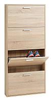 Шкаф для обуви, цвет дуб с 4-мя отделениями, фото 1