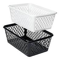 Ящик пластиковый для хранения  24Х34 см черные и белые