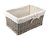 Ящик плетений з лози сірий 38Х27 см