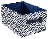 Ящик тканевый с ручками 23Х32 см синий