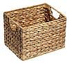 Ящик плетенный из гиацинта с ручками 20X25 см