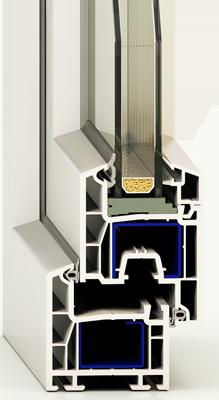 Металлопластиковые окна Праймпласт, монтажная глубина 60 мм., 4 камеры