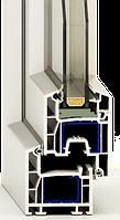 Металлопластиковые окна Праймпласт, монтажная глубина 58 мм., 4 камеры