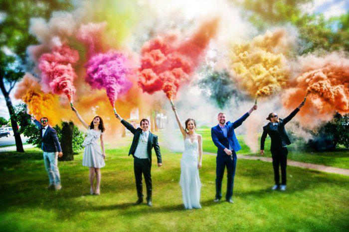 Кольоровий дим (Набір 6 кольорів) Час 60 сек