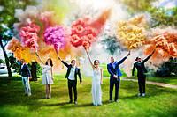 Цветной дым (Набор 6 цветов) Время 60 сек