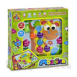 """Мозайка детская 12 платформ с рисунками, 46 элементов, коробке """"FUN GAME"""""""