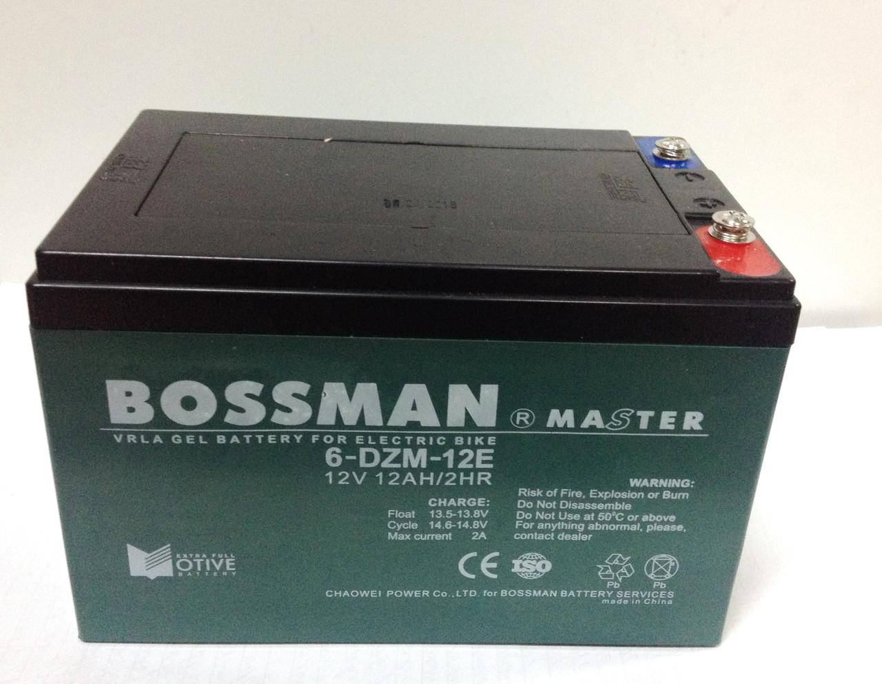 Аккумулятор 12V 12Ah Bossman-Master 6DZM12E