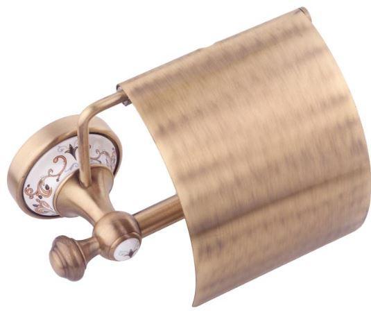 Держатель туалетной бумаги настенный бронза Турция 0575