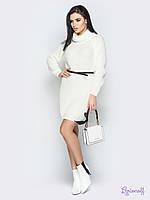 Вязаное платье - туника с горловиной-хомутом 4PL2364, фото 1