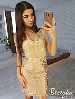Кружевное платье на сетке без рукавов 66PL2366, фото 1