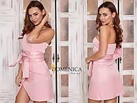 Облегающее платье короткое с одним рукавом 31PL2373, фото 1