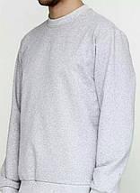 Світшот чоловічий, сірий, фото 2