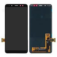 Дисплей  Samsung A750 2018 Черный Original  GH96-12078A