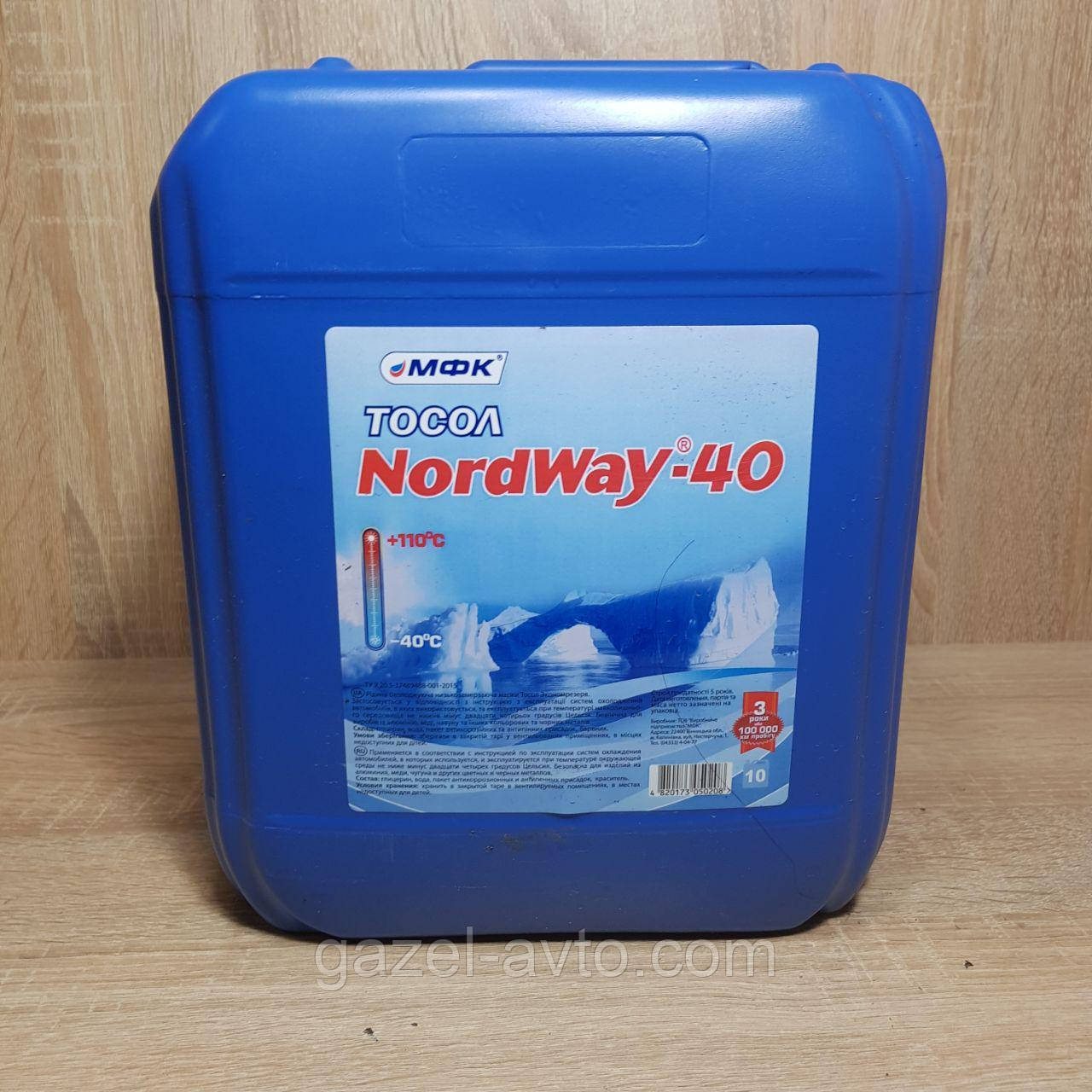 NORDWAY Тосол-40, 8.9 кг