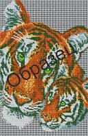 Схема для вышивки бисером «Тигрица и тигренок»