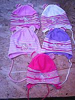 Весенняя трикотажная шапочка для девочки, фото 1