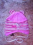 Весенняя трикотажная шапочка для девочки, фото 3