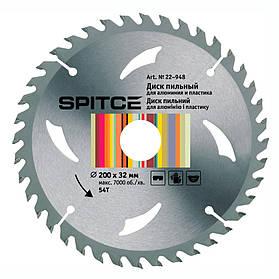 Диск пильный Spitce для алюминия с адаптером 54Т 200 х 32/30 мм (22-948)