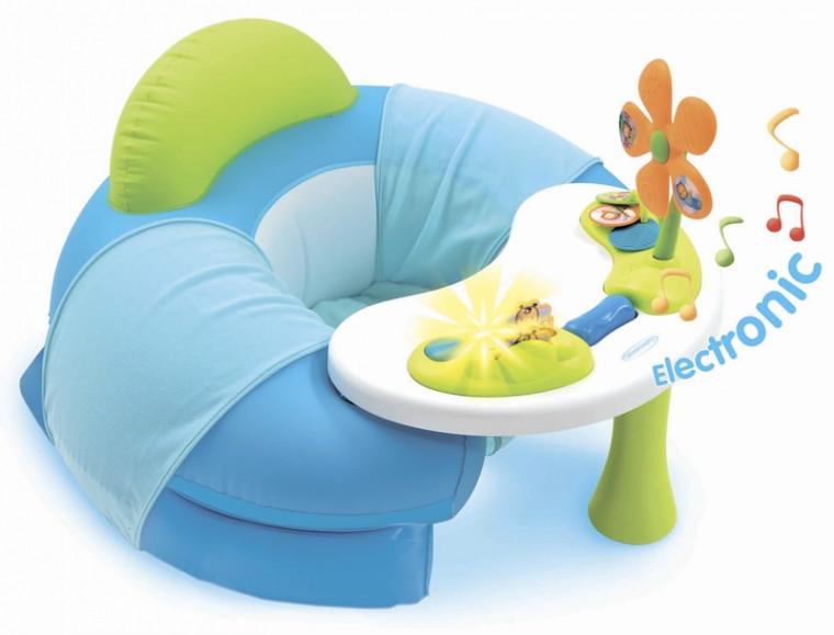 Детское кресло Smoby Toys Cotoons с игровой панелью Голубое (110210)
