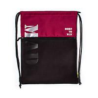 Удобный городской рюкзак-мешок для обуви бордовый от MAD | born to win™