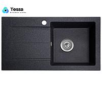 Мойка кухонная гранитная Tessa Prima black 78002